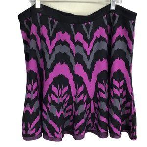 Torrid 3X Ikat Skater Circle Mini Skirt Purple